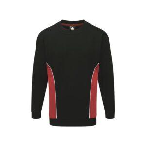 two tone sweatshirt