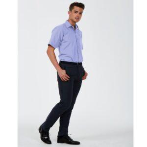 Mens Tailored Short Sleeve Poplin Shirt