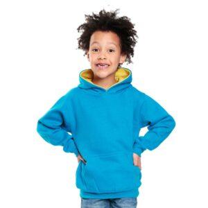 kids contrast hoodie