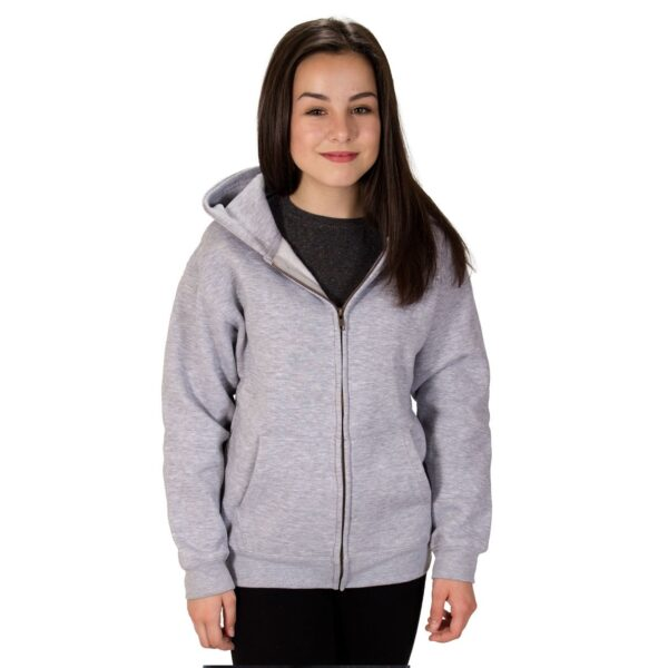 plain kids zip up hoodie